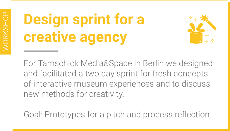 Design sprint for Tamschick Media&Space